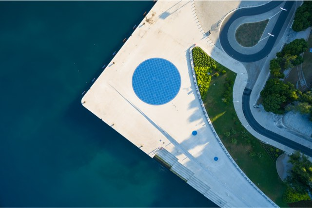 greetings from the sun zadar air view
